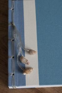 Fotoboek stof met schelpjes